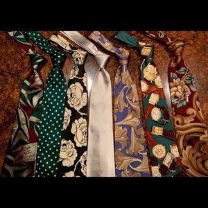 Polo Ralph Lauren Qty 7 Mens Tie  Wool & Silk